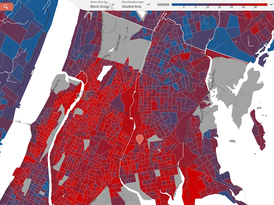 The intensity of residential segregation in New York City ... on map of schools, map of population growth rate, map of history, map of crime, map of environment, map of middle east and russia, map of irish americans, map of neighborhoods, map of ethnicities, map of veterans, map of american indian reservations, map of people, map of laos and thailand, map of cultures, map of extreme groups, map of terrorist groups, map of countries, map of housing, map of labor,